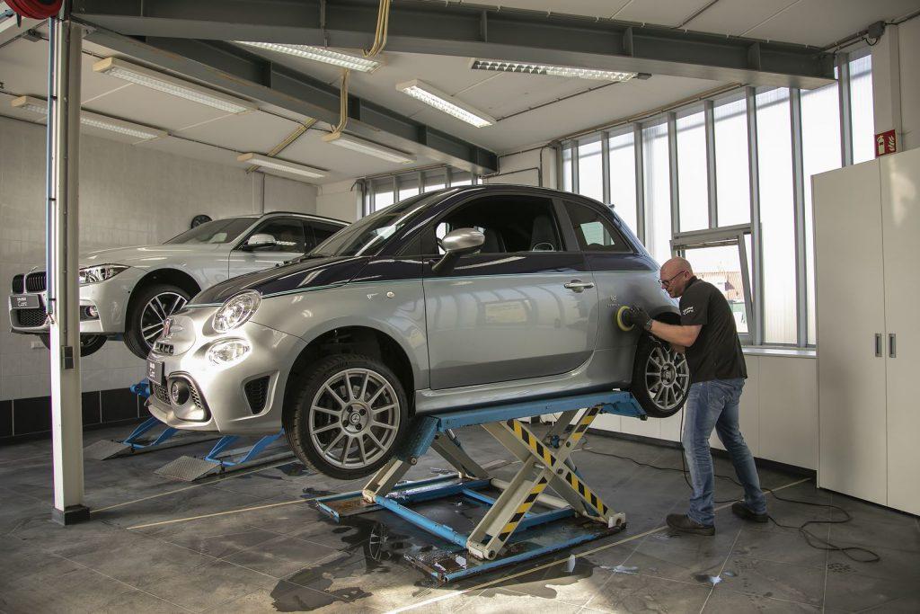 Polijsten en beschermen Fiat Abarth